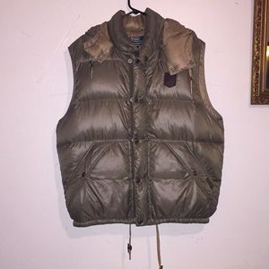 Polo Ralph Lauren down vest.